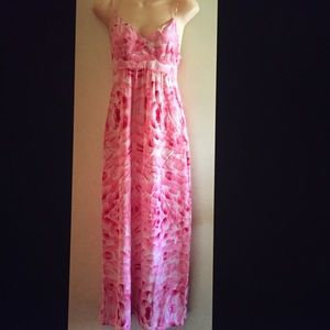 Rory Beca Pink floral Maxi Dress